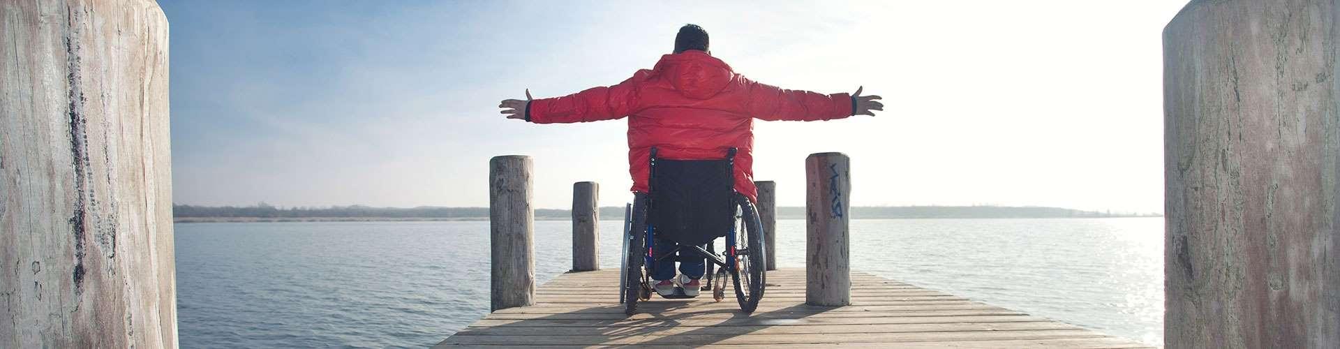 Rollstuhlfahrer, Meer